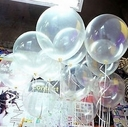 "Tuf-Tex 17"" Tuf Tex Clear See Through Latex Balloons 72 Per Bag"
