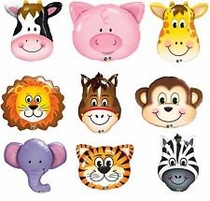 "14"" Air Fill Foil Animal Air Fill Only Balloons 1ct"