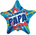 "18"" Felicidades Papa Spanish Father's Day Balloon 1 Per Pack"