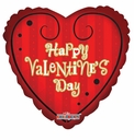 "Valentine Heart Shape Foil Balloons 18"" Contemporary"
