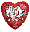 "18"" Valentine Floating Hearts Valentine Balloon 1ct"
