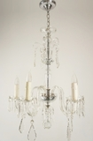 5-candle cut crystal chandelier, circa 1930s