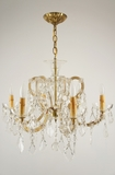 6-candle Italian Maria Theresa style cut-crystal chandelier, circa 1940s