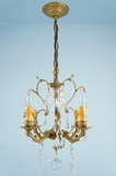Spanish cast brass and crystal chandelier<BR><NOBR> (circa 1940s)</NOBR>