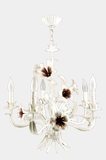 Mid-Century 5-candle Italian lily chandelier, circa 1960s