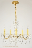 5-candle Maria Theresa-style crystal chandelier, circa 1940s
