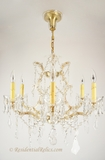 7-candle cut crystal Maria Theresa-style  chandelier, circa 1930s