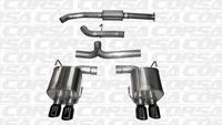 Corsa Catback Exhaust w/ Black Tips Subaru WRX 2015-2017