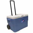 Coleman 50 Quart Wheeled Party Stacker Cooler Bl 3000001392