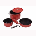 Coleman Family Cookset 6 Piece Red Enamel 2000016422