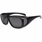 Gone Fishing Avery  Over-Eyes Sunglass Matte Blk w/Grey Lens