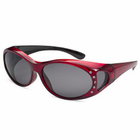Gone Fishing Kristal Over-Eyes Sunglass Crystal Red/Gry Lens