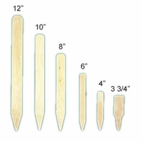 "3 3/4"" x 1"" Natural Wood Plant Label (50pk)"