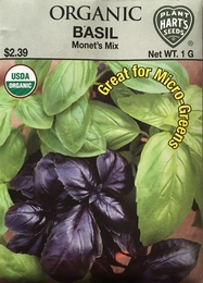 Organic Basil Monet's Mix