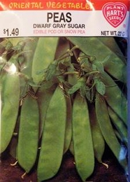 Snow Pea Dwarf Gray Sugar