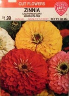 Zinnia California Giant Mix