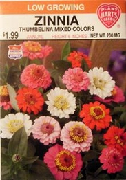Zinnia - Thumbelina Mixture