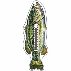 Fishing Nostalgic Tin Thermometer