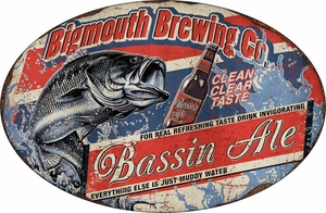 Bassmouth Brewing Co. Metal Sign