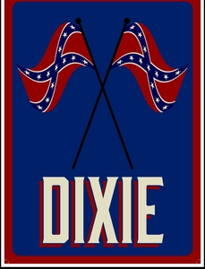 """Dixie"" Metal Sign"