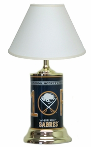 Buffalo Sabres License Plate Lamp with White Shade