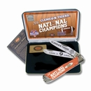 Case Clemson Tigers 2016 National Champions Trapper  with Orange Corelon Handles