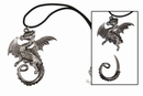 Coiled Dragon with Hidden Knife Necklace