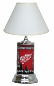 Detroit Redwings License Plate Lamp with White Shade