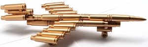 """9.5"""" Jet Plane Sculpture Made From Bullet Casings"""