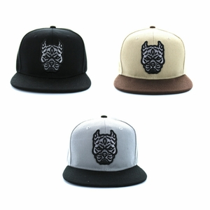 Embroidered Pitbull Snapback Cap- Assorted