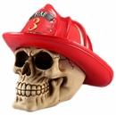 Firefighter Skull with Brigade Hat