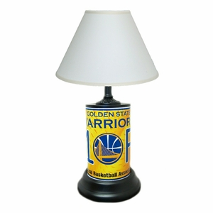 Golden State Warriors License Plate Lamp with White Shade