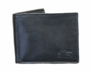 IKS Premium Black Soft Leather Bi-fold Wallet - Click to enlarge