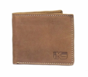 IKS Premium Tan Soft Leather Bi-fold Wallet - Click to enlarge
