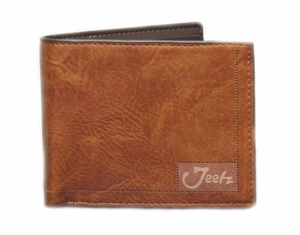 Jeetz Handmade Men's Tan Bi-fold Wallet
