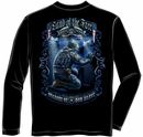 Land of the Free Because of the Brave Wall Long Sleeve Shirt