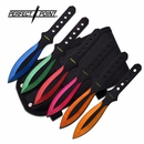 """Perfect Point """"The Abominable"""" 6 Pc Throwing Knife Set"""