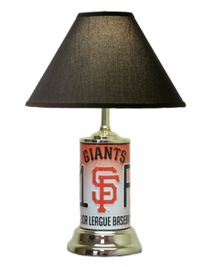 San Francisco Giants License Plate Lamp with Black Shade