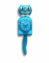 Scuba Blue Kitty Cat Clock 12.75""