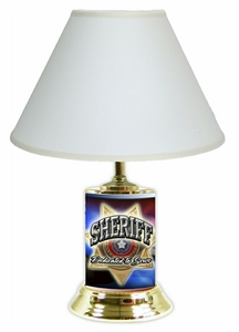Sheriff License Plate Lamp w/White Shade