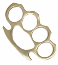 Slim Brass Four Finger Knuckle Paper Weight