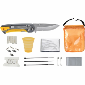 Smith's Sharpeners Survival Kit w/ Knife & Sharpening Rod