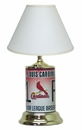 St. Louis Cardinals License Plate Lamp with White Shade