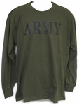 T-Shirt - Army Long Sleeve - OD Green
