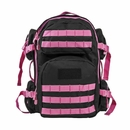 Tactical Backpack- Black with Pink Trim