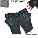 Takedown Leather Large Law Enforcement Half-Finger SAP Gloves
