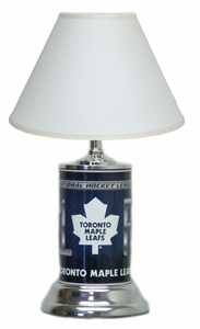 Toronto Maple Leafs License Plate Lamp with White Shade