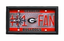 University of Georgia Bulldogs License Plate Clock