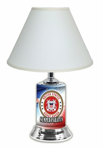 US Coast Guard License Plate Lamp with White Shade