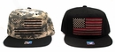 USA Flag Snapback Cap - Assorted